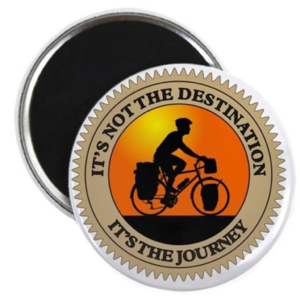 It's Not the Destination, It's the Journey magnet from Cafe Press